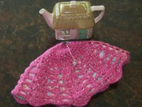 Lacy Pink Felted Tea Cozy