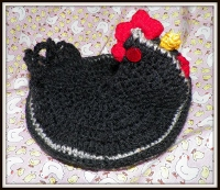 #crobph Black Chicken Pot Holder