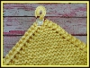 Bright Yellow Pot Holder With Chicken Button
