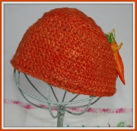 Homespun Carrot Top Child or Woman Hat