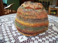 Homespun Wool Hat Made With Fall Colors