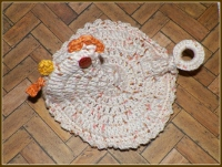 Orange Eyed Chicken Pot Holder