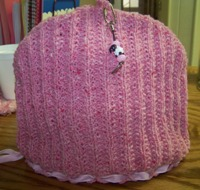 Pink Recycled Yarn Tea Cozy