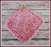 #pin149 Pink Pot Holder With a Teddy Bear Button