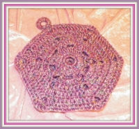 Purple Tweed Pot Holder